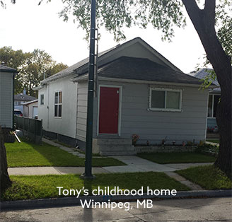 Tony's childhood home
